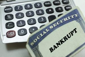 calculator and social security card